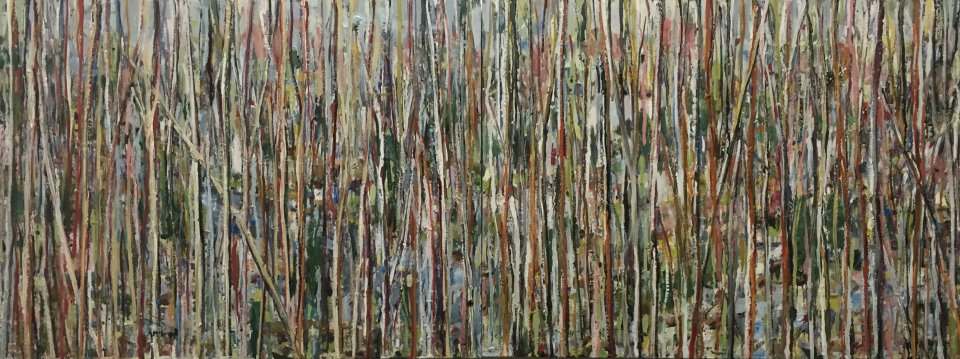 Fragments, Oil on Board, 2016, 18 x 48 (diptych)